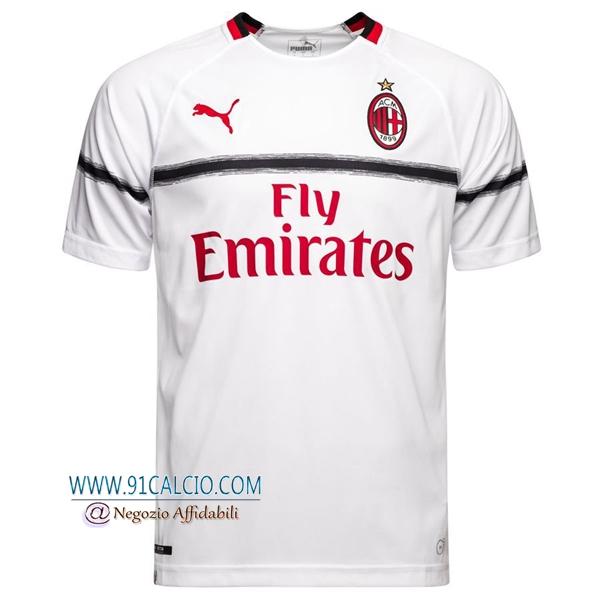 Maglia Calcio AC Milan 2018-2019 Seconda Uomo Bianco - 91calcio