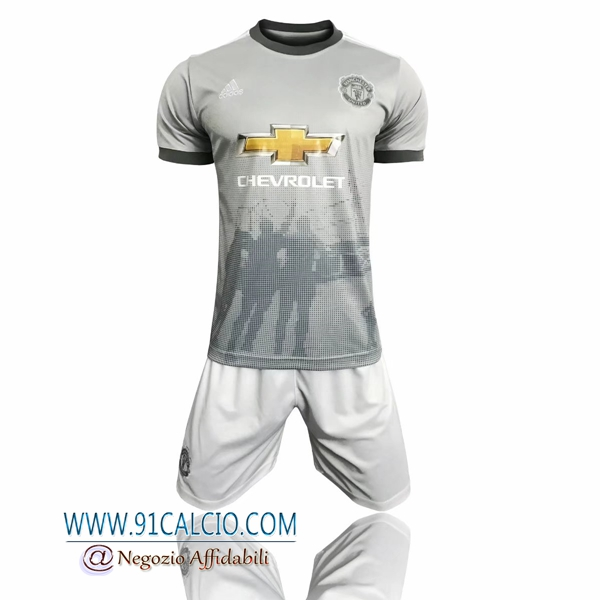 Kit Maglie Manchester United Terza 2017 2018 + Pantaloncini