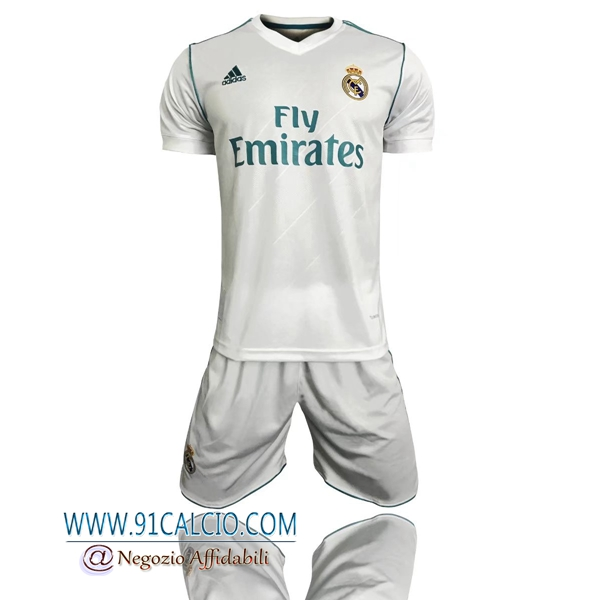 Kit Maglie Real Madrid Prima 2017 2018 + Pantaloncini