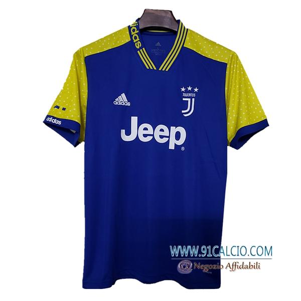 498dc365e Maglia Calcio Juventus Concetto Blu/Giallo 2019 2020 | 91calcio