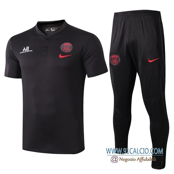 Kit Maglia Polo Paris PSG ALL + Pantaloni Nero 2019 2020