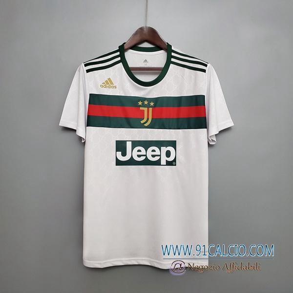 T Shirt Allenamento Juventus Bianco/Verde 2020 2021   91calcio