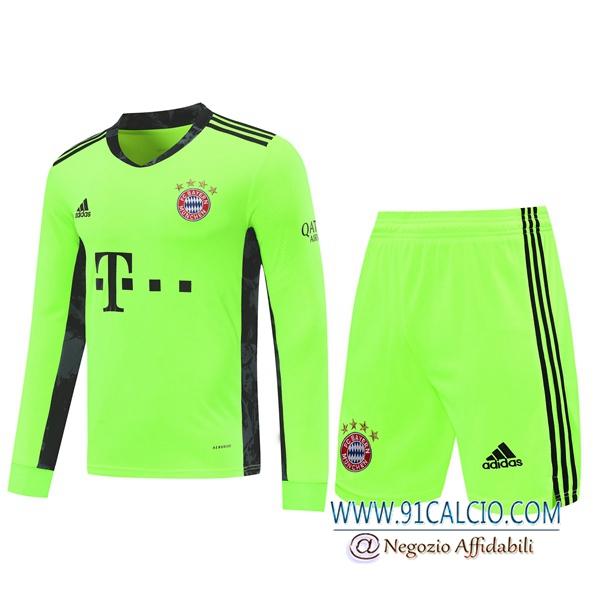 Kit Maglia Calcio Bayern Monaco Portiere Verde 2020 2021 | 91calcio