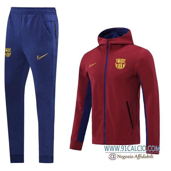 Tuta Allenamento A Vento FC Barcellona Rosso 2020 2021 Giacca con ...