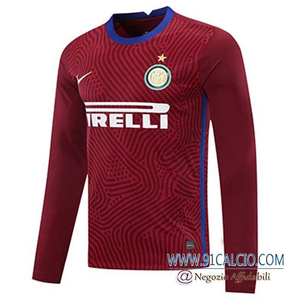 Maglie Calcio Inter Milan Portiere Rosso Maniche lunghe 2020/2021 ...