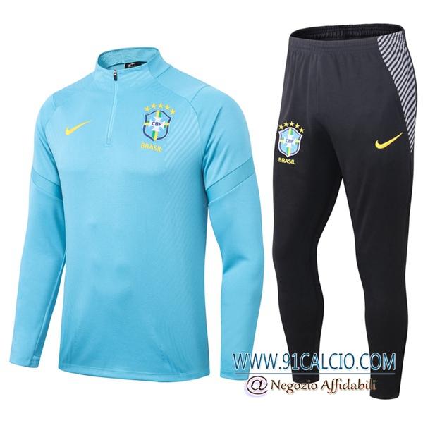 Tuta Allenamento Brasile Blu 2020 2021 Pantaloni | 91calcio