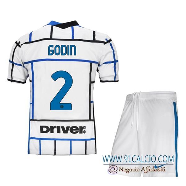 Maglia Calcio Inter Milan (GODIN 2) Bambino Seconda 2020 2021 ...
