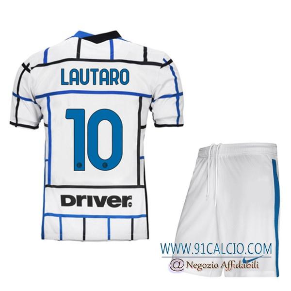 Maglia Calcio Inter Milan (LAUTARO 10) Bambino Seconda 2020 2021 ...