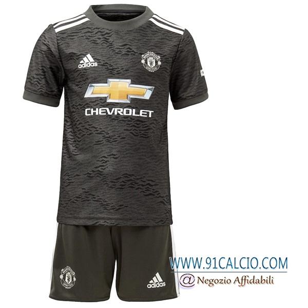 nuove maglia calcio manchester united bambino seconda 2020 2021 91calcio 91calcio