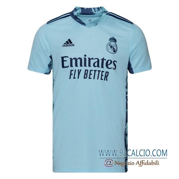 Maglia Calcio Real Madrid Portiere Blu 2020 2021 | 91calcio